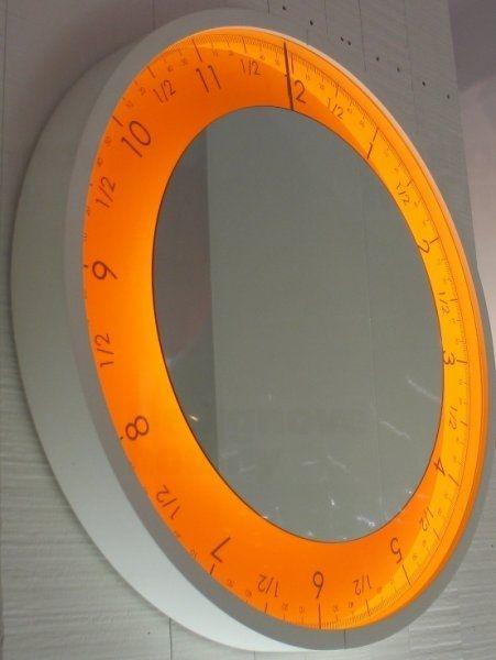 Designové LED hodiny Diamantini&Domeniconi 307P Solo Ora 50cm D&D barevnice LED LED oranžová / rám černý