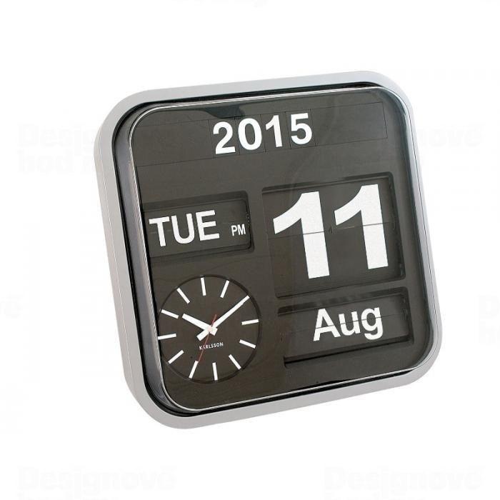 Velké překlápěcí hodiny Karlsson černé