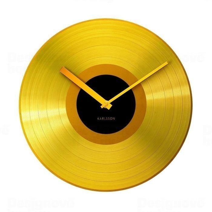 Kovové nástěnné hodiny Karlsson 4539