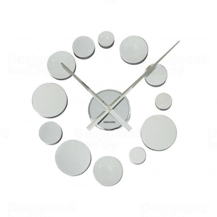 Nástěnné nalepovací hodiny Karlsson 5198CH hliníkové