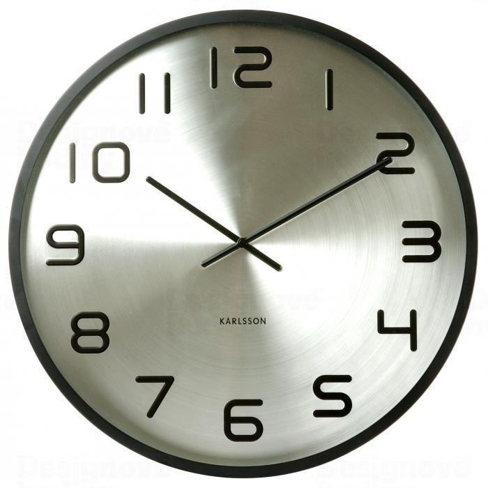 Velké kovové hodiny na stěnu Karlsson 5321