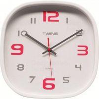 Nástěnné hodiny Twins 10513 white 30cm