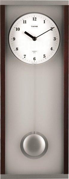 Krásné nástěnné kyvadlové hodiny značky Twins - 8031