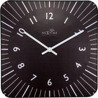 Designové nástěnné hodiny řízené signálem DCF 3240zw Nextime Alex 35cm