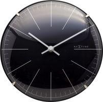 Designové nástěnné/stolní hodiny 3506zw Nextime Big Stripe Mini Dome 20cm