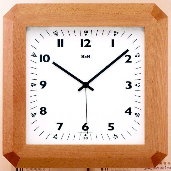 Dřevěné nástěnné hodiny na zeď 4318.7, 4319.1 H&H 4319