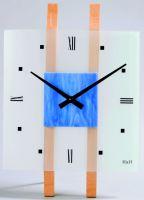 Nástěnné hodiny skleněné 1066.1, 1067.2, 1068.3, 1069.4 čtvercové