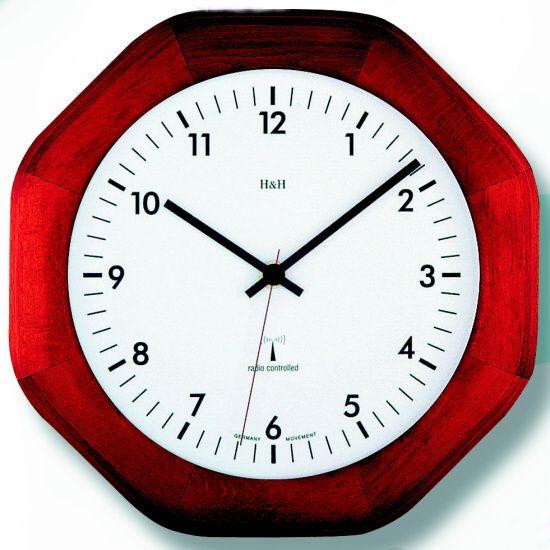Dřevěné nástěnné hodiny na zeď na stěnu