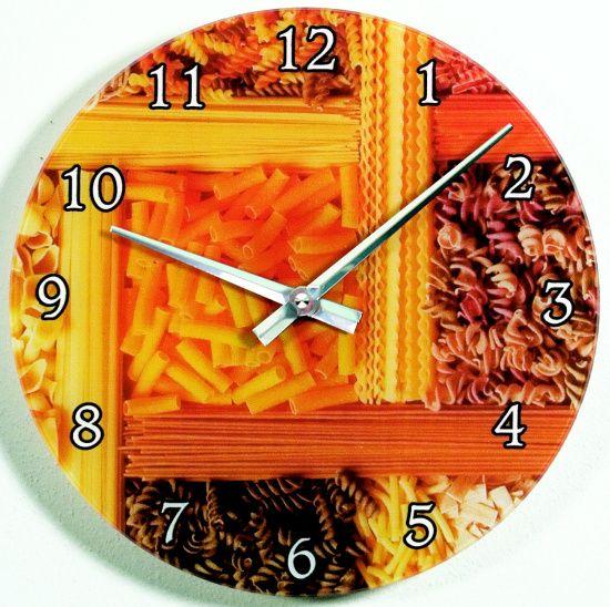 H&H Skleněné nástěnné hodiny na zeď