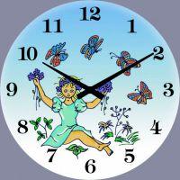 Nástěnné hodiny skleněné pro děti 1058.7 kulaté