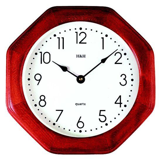 H&H Dřevěné nástěnné hodiny na zeď