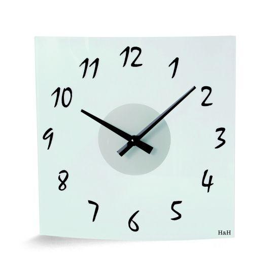 Skleněné nástěnné hodiny na zeď, nástěnné moderní hodiny na stěnu