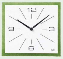 Nástěnné hodiny čtvercové zelená