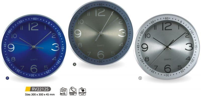MPM Quality Designové nástěnné hodiny kovové RV2212S - F, K, S