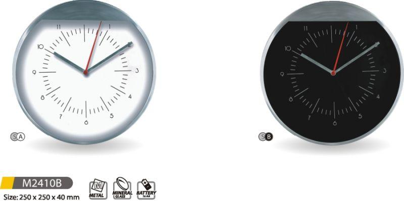 MPM Quality Moderní nástěnné hodiny kovové M2410B - SA, SB