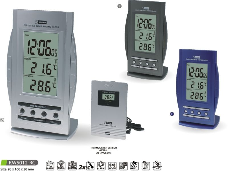 MPM Quality Teploměr digitální s budíkem KW5012-RC