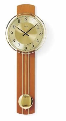 Kyvadlové hodiny AMS 7115/9 třešeň, 7115/18 buk, 7115/1 ořech hodiny na zeď, pendlovky AMS 7115/9 třešeň