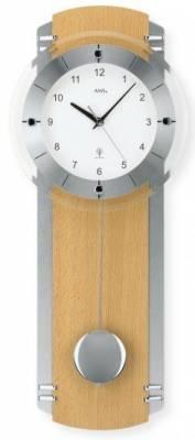 Kyvadlové hodiny rádiem řízené AMS 5245/18 buk, 5245/1 ořech 5245/18 buk