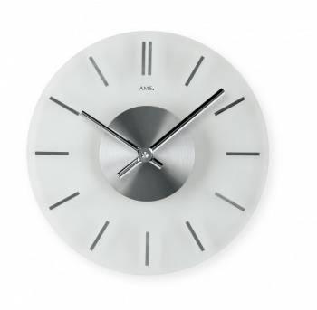 Nástěnné skleněné hodiny AMS 9319, 9318 AMS 9318
