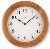 Dřevěné nástěnné hodiny kulaté AMS 929/9 třešeň