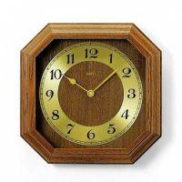Nástěnné hodiny dřevěné AMS 5864/4 dub, AMS 5864/18 buk