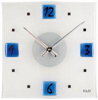 Nástěnné hodiny čtvercové 1132.6 modré