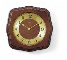 Nástěnné hodiny řízené rádiem AMS 5862/1 ořech