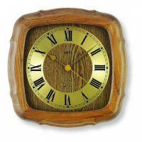Nástěnné hodiny řízené rádiem AMS 5932/4 dub