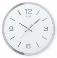 Skleněné nástěnné hodiny AMS 9322 kulaté