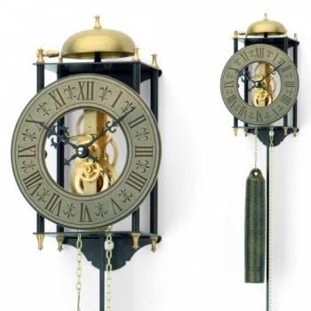 Originální mechanické kyvadlové kovové hodiny AMS 301, hodiny na zeď AMS 302 AMS 301