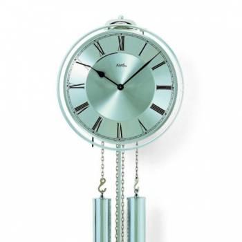 Luxusní mechanické kyvadlové kovové hodiny AMS 358, hodiny na zeď