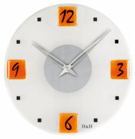 Nástěnné hodiny skleněné 1167.3 oranžové