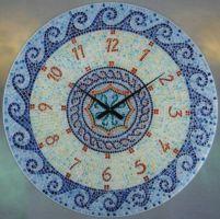 Velké skleněné hodiny AMS 9231 Mozaika