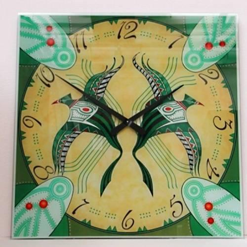 Nástěnné hodiny Velké dekorativní skleněné hodiny AMS 9235 Ethnico Nástěnné hodiny